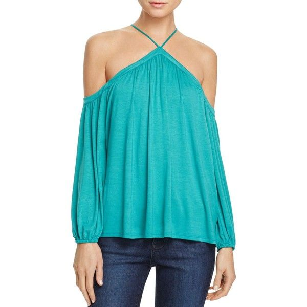 a44ea930244f5 Ella Moss Cold Shoulder Top ( 128) ❤ liked on Polyvore featuring tops