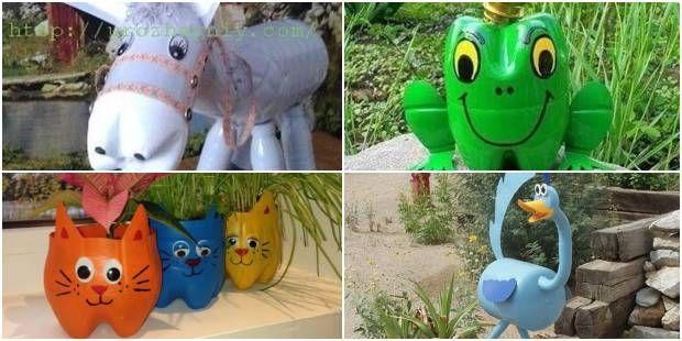 Bichinhos Com Garrafas Plasticas Para Jardim Jardim Garrafas
