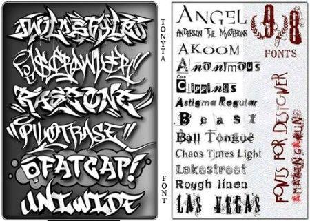 600 خط عربي 300 خط انجليزي للفوتوشوب والتصاميم Tattoo Fonts Lettering Writing Tattoos
