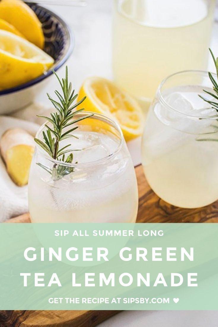 Photo of GINGER GREEN TEA LEMONADE