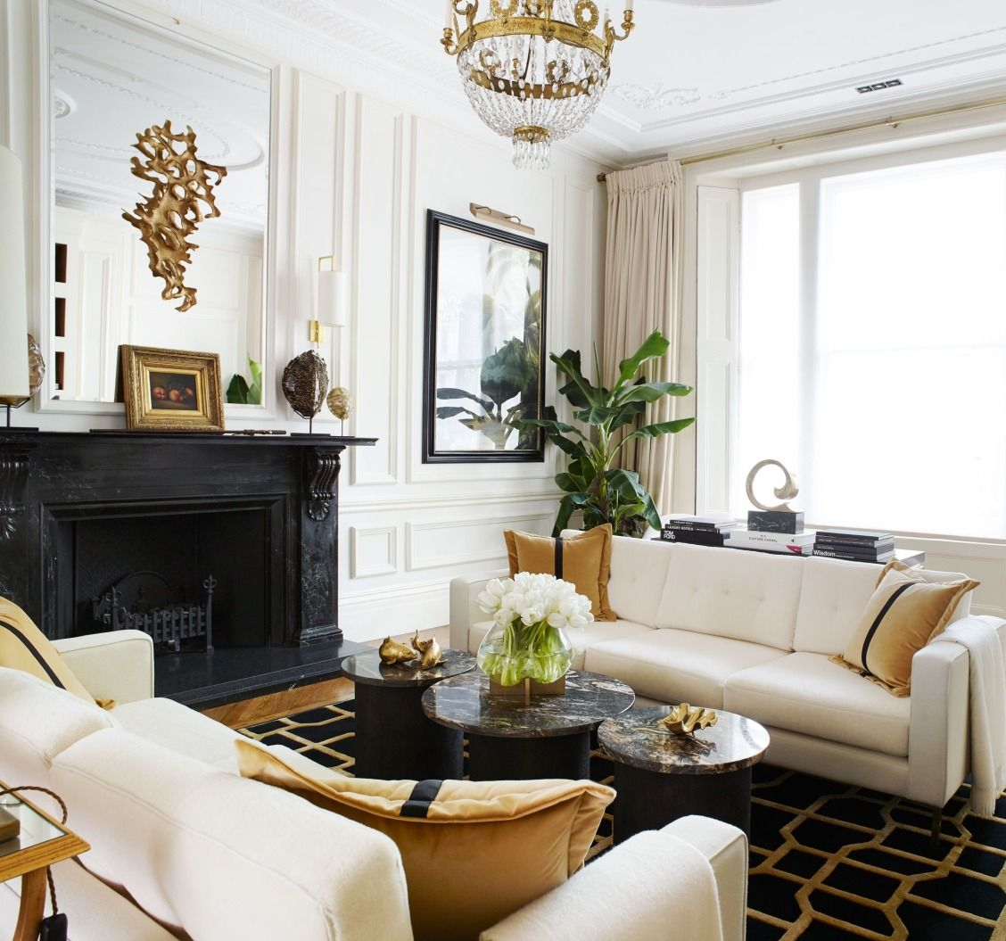Townhouse Apartments: A Classic London Townhouse Apartment Gets A Glamorous Art
