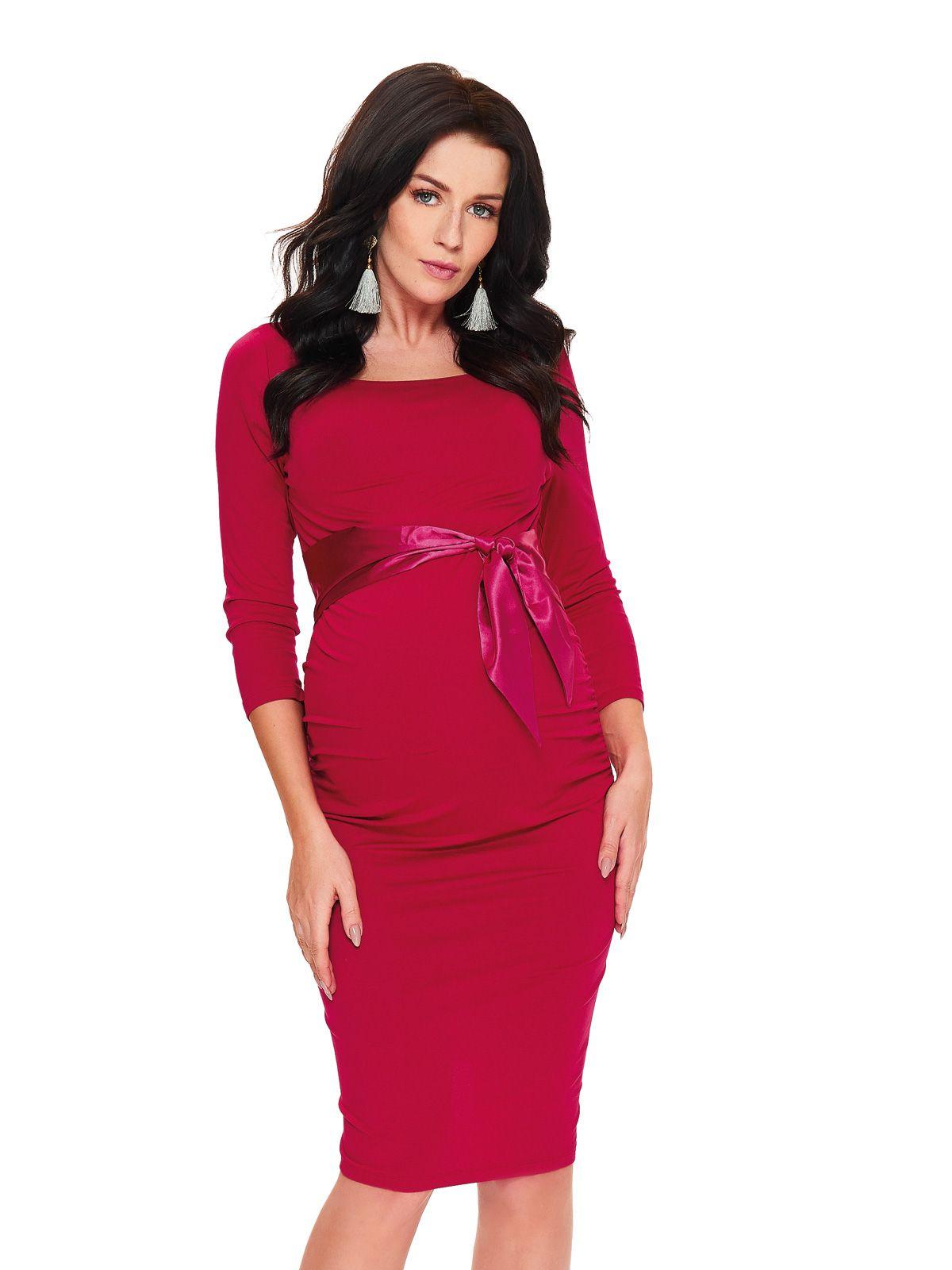 ef851c76 Elegancka, klasyczna sukienka ciążowa z wiązaniem pod biustem ...