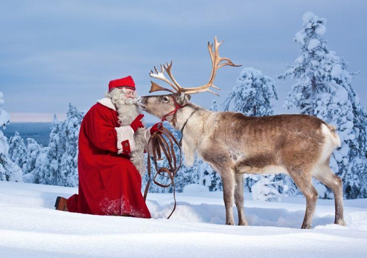 Namen Der Rentiere Von Santa Claus Auf Deutsch