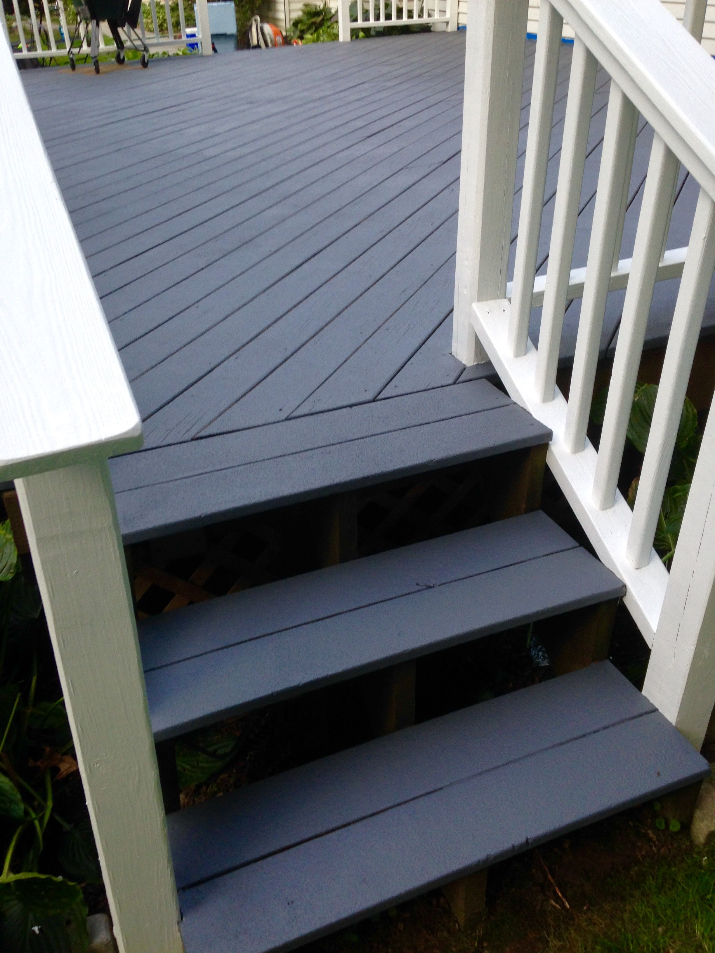 Behr Deckover Flat Top Textured Floor And Ultra Pure White