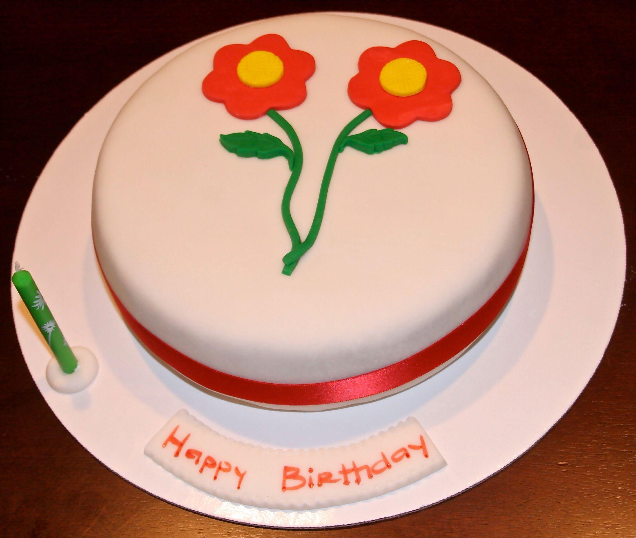 Simple Fondant Cake Cake Decorating Ideas Pinterest
