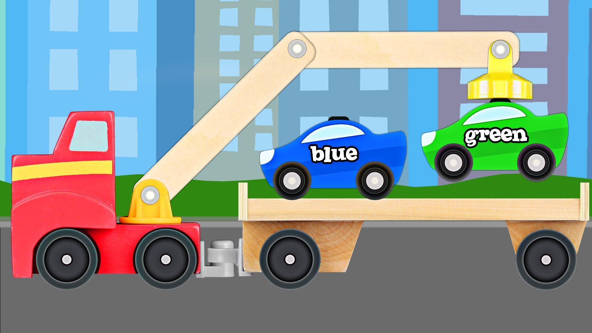 Big Rig Tow Truck Teaching Colors Learning Colours Video For Kids Toddlers Teaching Colors Learning Colors Science Videos For Kids