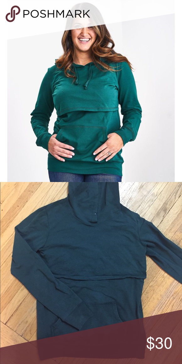 c748bed94c640 Latched Mama Emerald Nursing Hoodie Missing drawstring No stains or pilling  fits like med/lrg