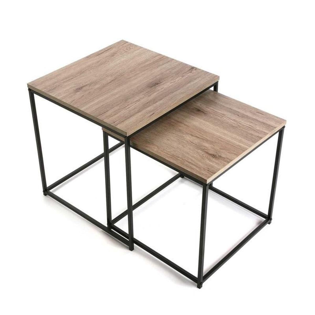 Set 2 Tables Basses Ajustables Taille Taille Unique Table