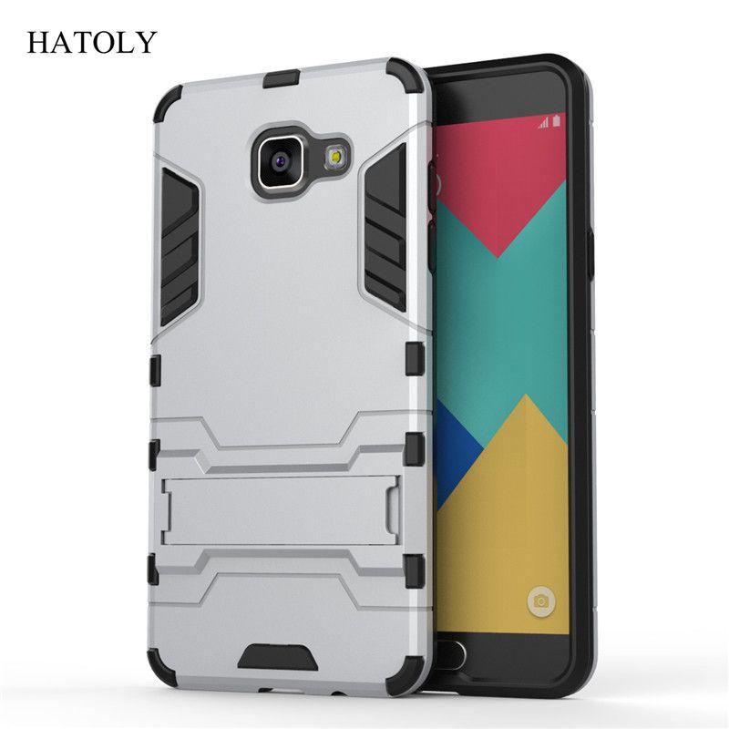 Para samsung galaxy a5 2016 case a510 a510f heavy duty armor hybrid hard case cubierta del teléfono de caucho de silicona para samsung a5 2016 (<