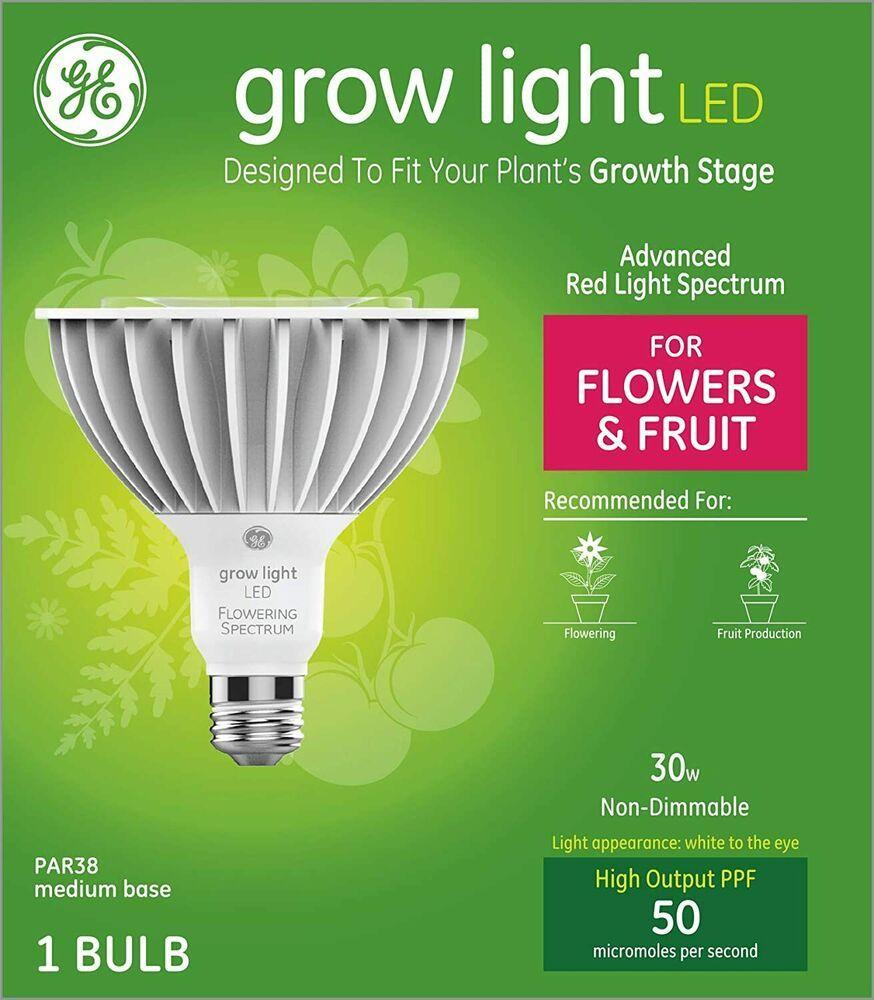 Ge Grow Light Led 30 Watt Bulbs For Flowers Fruit Par38 New Free Shipping Ge In 2020 Led Lights Led Light Bulb Grow Lights