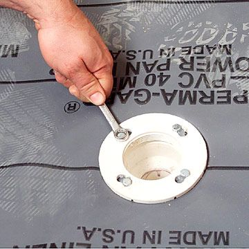 How To Install A Mortared Shower Pan With Images Shower Pan
