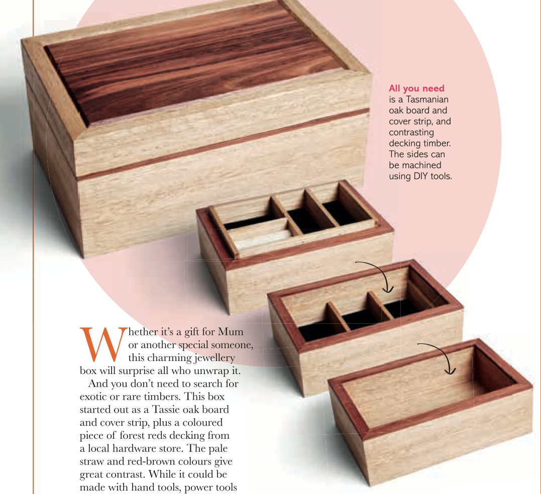 free wooden jewelry box pattern from BHG Australia httpsau