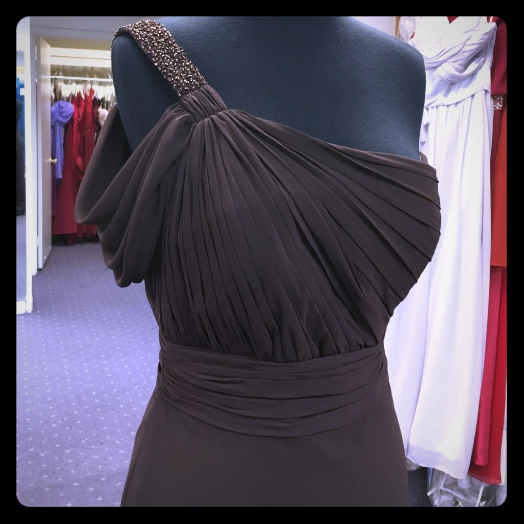 Brown One Shoulder Gown