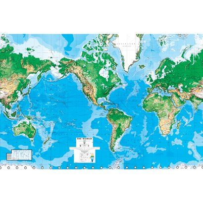 World map wall mural 88x130 wall murals target and wall maps world map wall mural 88x130 gumiabroncs Images