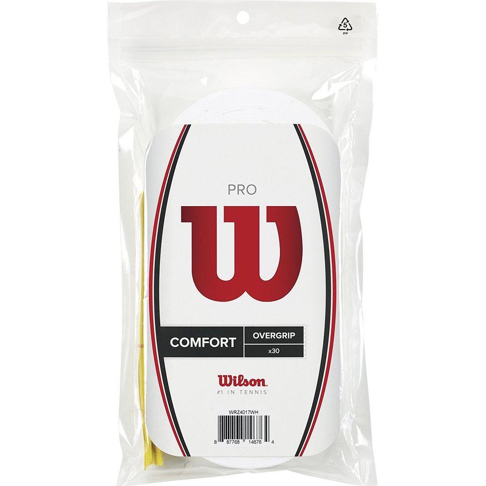 Details About Wilson Wrz4017wh Comfort Tennis Pro Racket Overgrip 30 Pack White Pro Tennis Tennis Grips Ebay