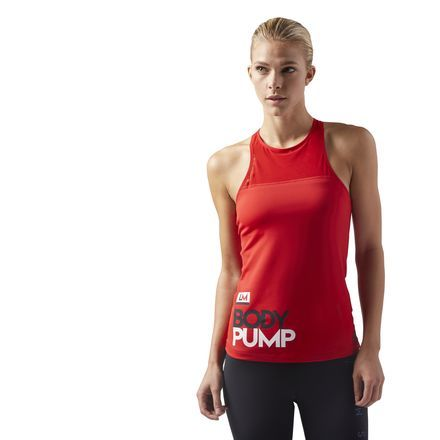 430115aeb55a5 Reebok Females LES MILLS® BODYPUMP Tank With Padded Built In Sports ...