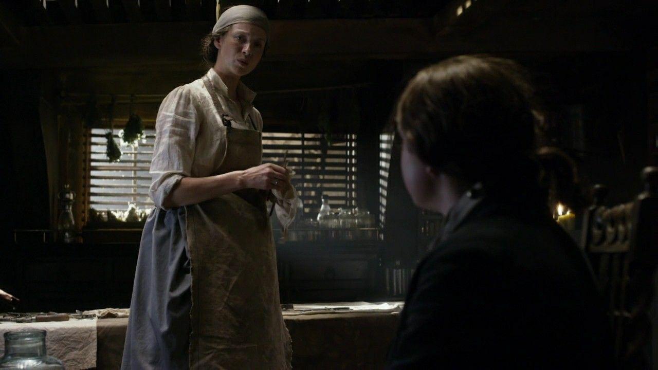 Claire on board the porpoise outlander_starz season 3