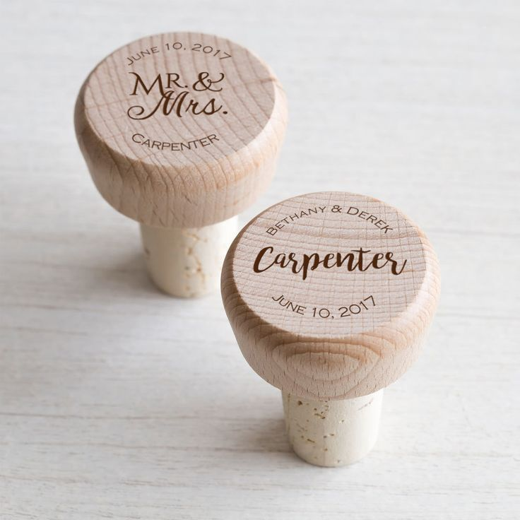 Bulk Personalized Wedding Wine Stopper Favors