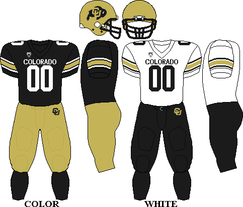 Colorado Buffaloes Football Team Uniforms Colorado Buffaloes Football Colorado Buffaloes Buffalo Football