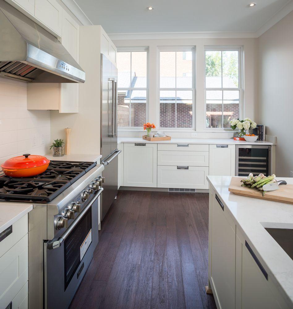 Medium sized modern kitchen idea in Alexandria, Virginia
