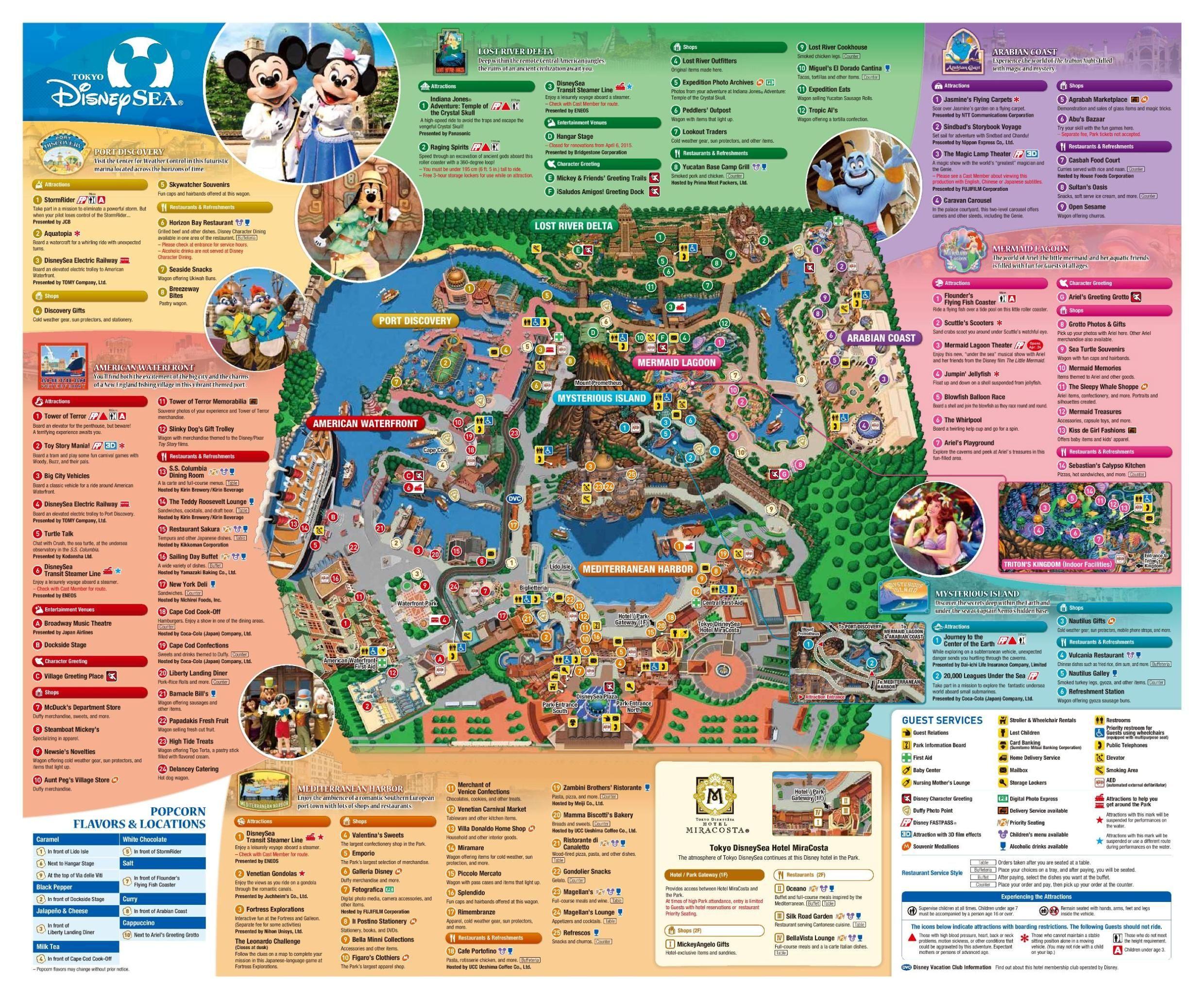 Tokyo Disneysea Map Tokyo Disney Sea Disneyland Map Disney Sea