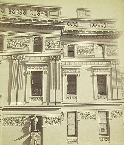 vanderbilt brownstone | William Henry Vanderbilt's triple brownstone-faced house, one each for ...