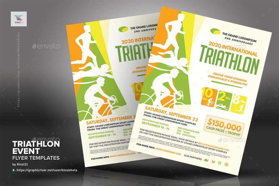Triathlon Event Flyer Templates Flyer Template Event Flyer Templates Event Flyer