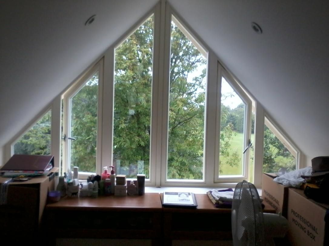 Gable end window ideas  pin by ben manders on loft  pinterest  windows curtains and attic