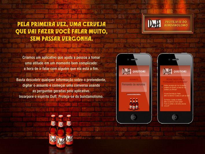 Cerveja Duff / App Mobile - Bruno Macarini