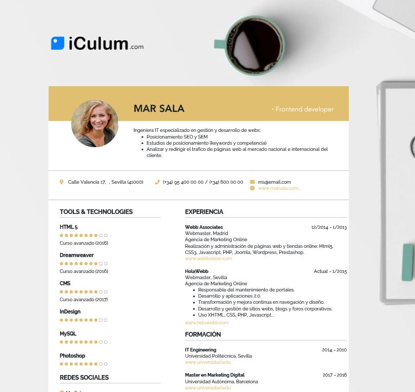 Crea CV únicos, Descarga En PDF O Comparte Con Un Link