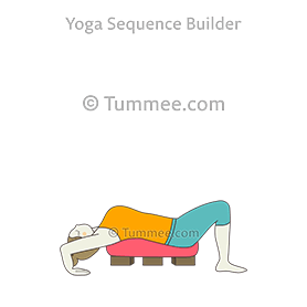 wheel pose bolster blocks yoga urdhva dhanurasana bolster