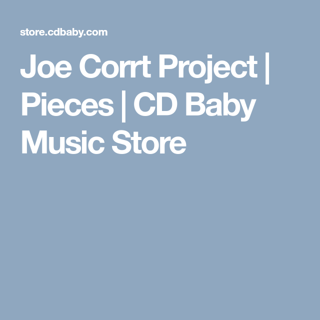 Pin On The Joe Corrt Project