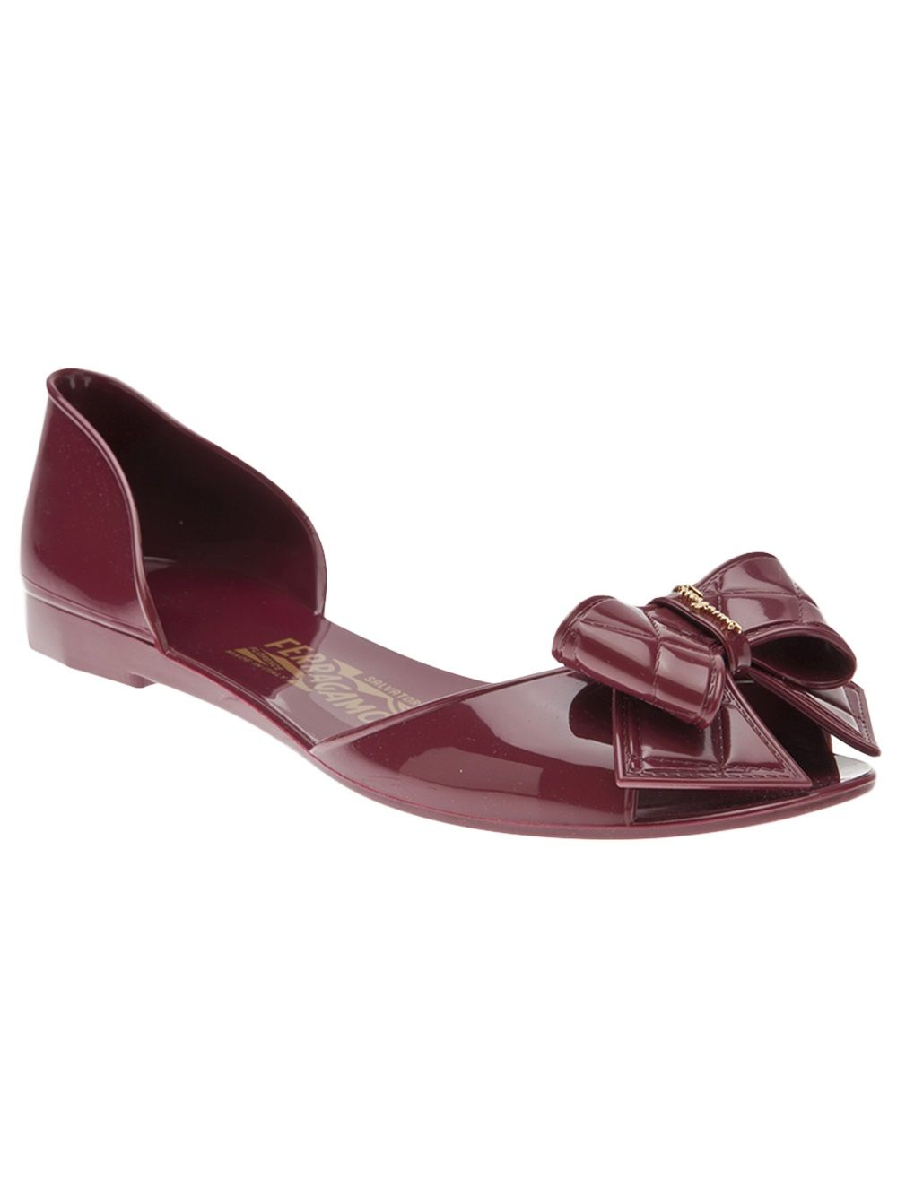 49bc3bc3427d9 Salvatore Ferragamo Jelly Flat - Hu s Shoes - Farfetch.com