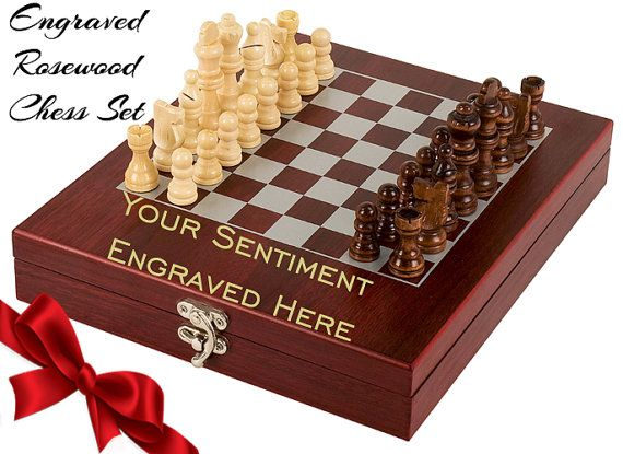 Give The Chess Player In Your Life A Personalized Chess Set Makes A Great Christmas Gift Fungifts4all Is Proud To Serve Our With Images Chess Set Chess Board Chess Gifts