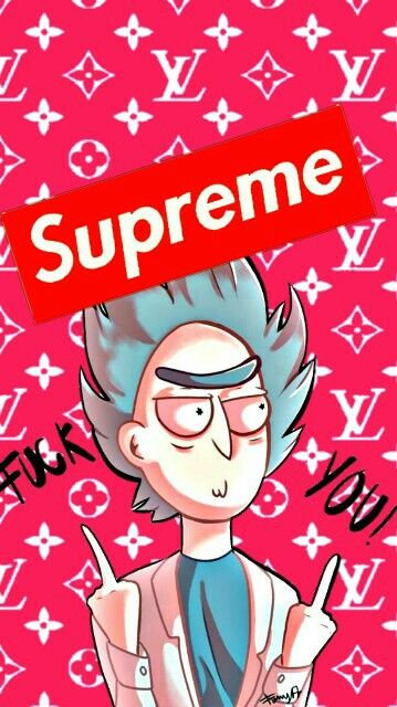 Rick Rick and Morty Wallpaper Supreme | Supreme wallpaper ...