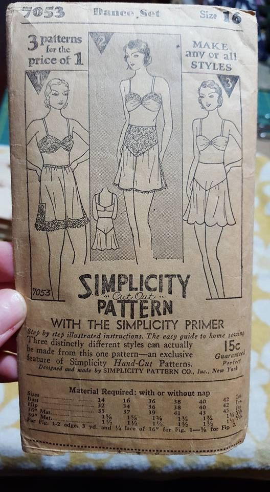RARE Simplicity 7053 Sewing Pattern 1920s 20s Shaker Dance Set ...