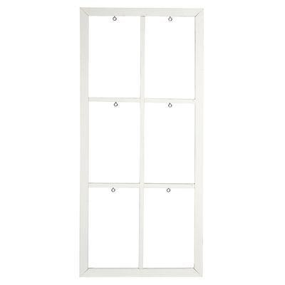 Dekorahmen Mit 6 Fenster Tanne Weiß Ca B:40 X L:90 Cm
