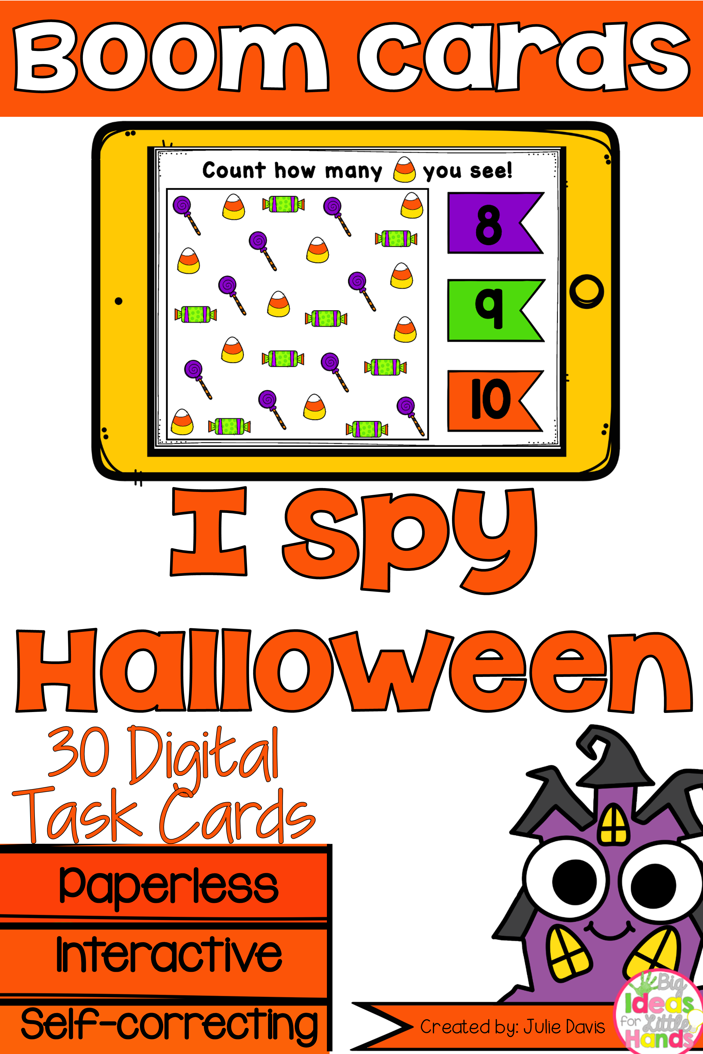 Boom Cards Halloween Counting
