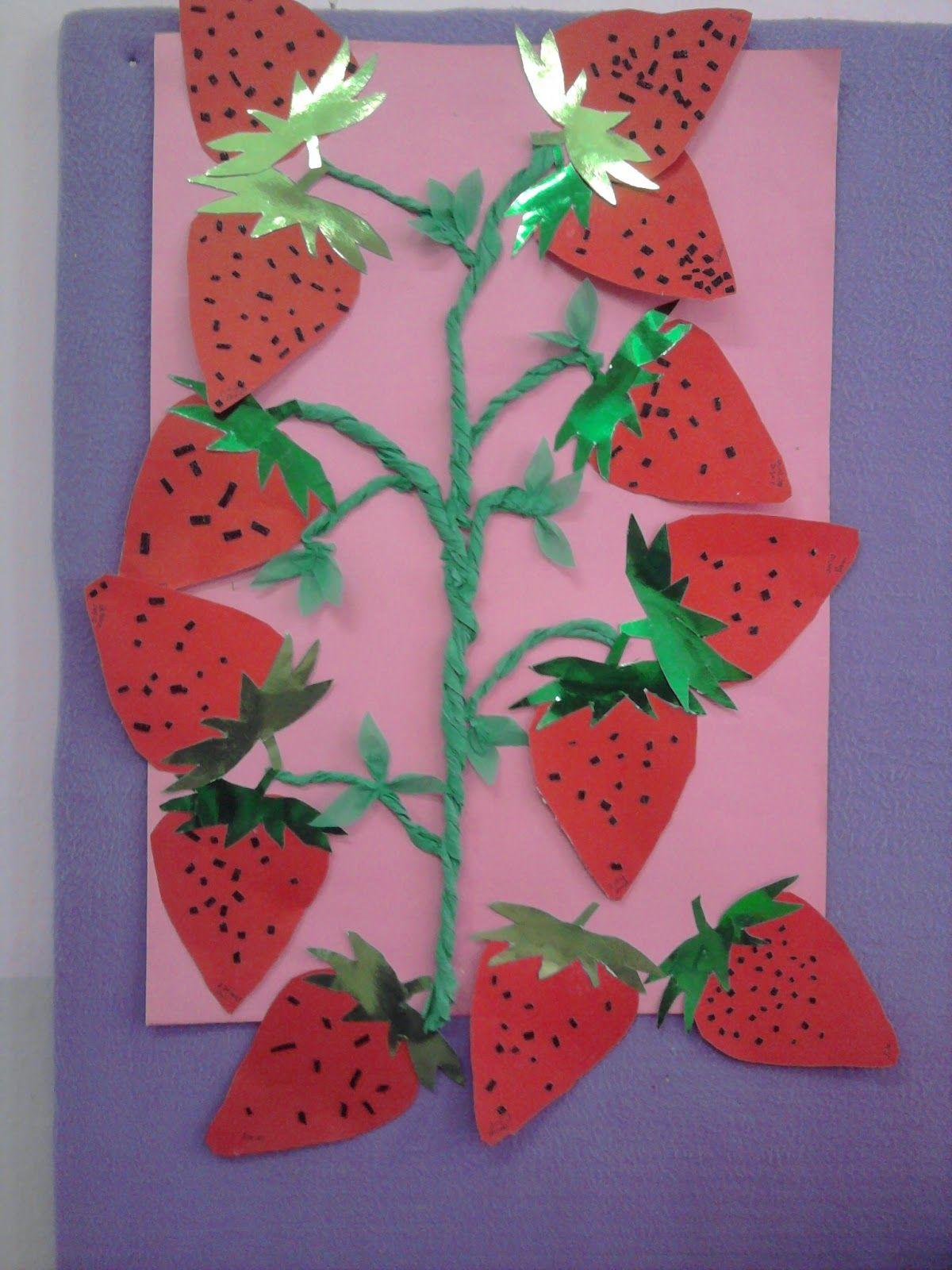 Strawberry Craft 2 Crafts And Worksheets For Preschool Toddler And Kindergarten Strawberry Crafts Fruit Crafts Daycare Crafts [ 1600 x 1200 Pixel ]