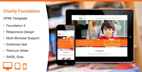 Charity Foundation – HTML Template | ThemeKeeper.com | Pinterest ...