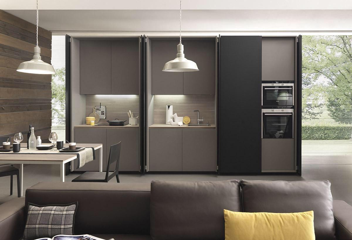 Modulnova, made in Italy: Cucina Armadio kitchen project. Showroom ...