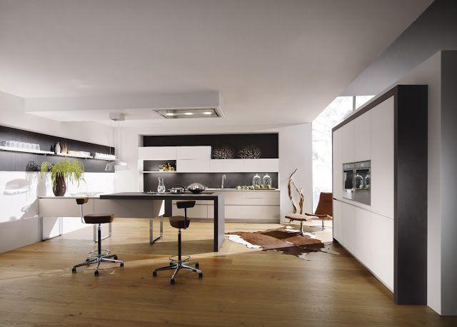 cuisine design avec hotte plafond et lot suspendu alnouk kitchen pinterest hotte. Black Bedroom Furniture Sets. Home Design Ideas
