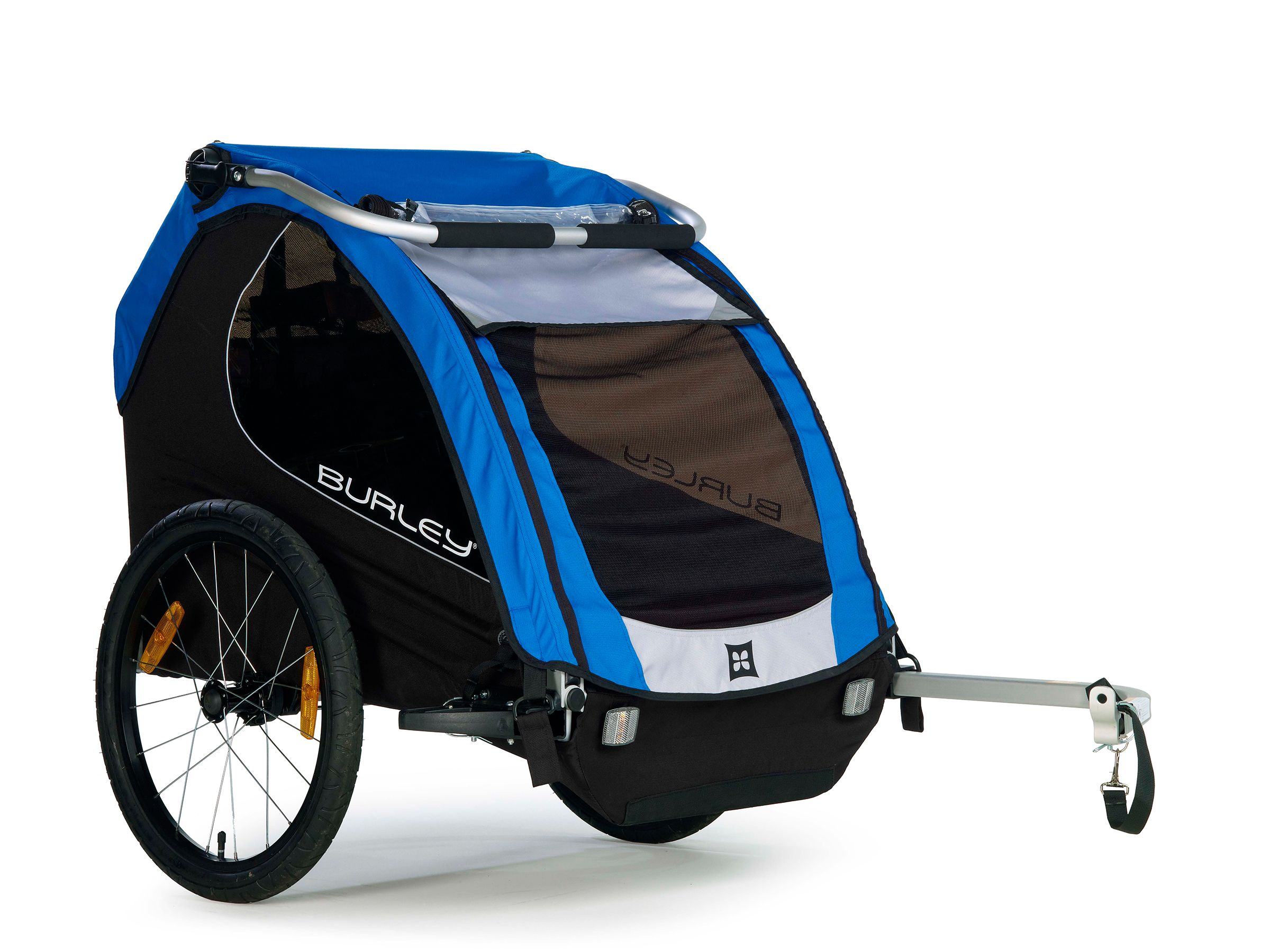Burley Encore Child Trailer-Bicycle Child Carrier-100lb Capacity-Blue-New