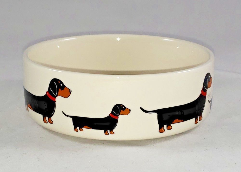 New Sweet William London Dachshund Water Food Bowl