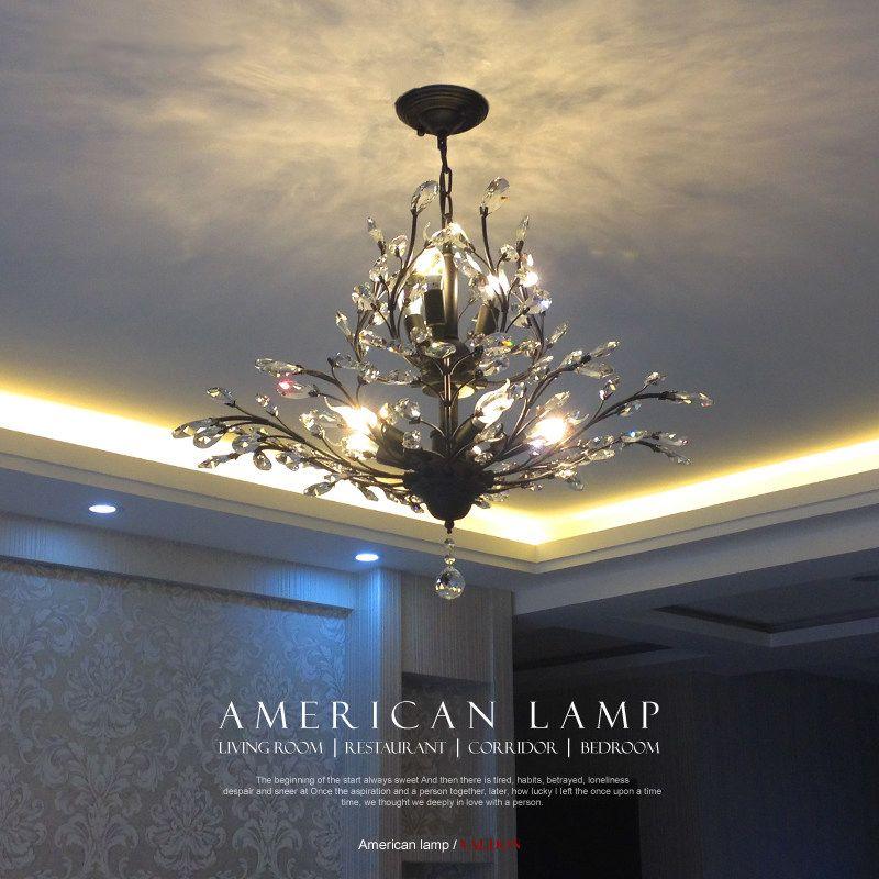 2016 Kreative Kunst Deco Pendelleuchte Moderne Kristall Kronleuchter  Beleuchtung Baum Blatt Für Schlafzimmer Kinder Led Lampen Leuchten 110  V/220 V In ...