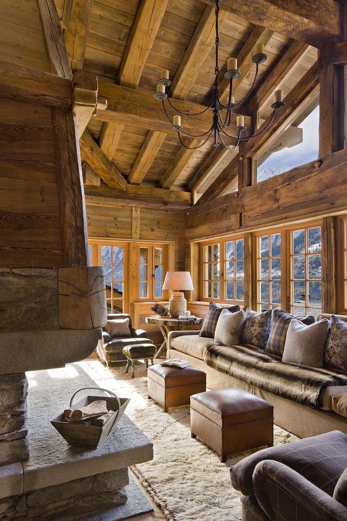 Chalet Living Room Chalet Design Chalet Interior Log Homes