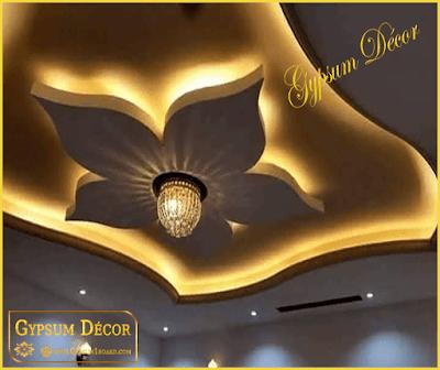 اسقف معلق جبس بورد حديثة 2021 False Ceiling Bedroom Modern Decor Ceiling Lights