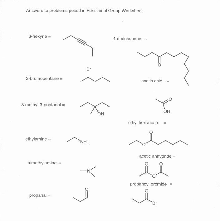Organic Chemistry Worksheet with Answers Unique 15 Best Of
