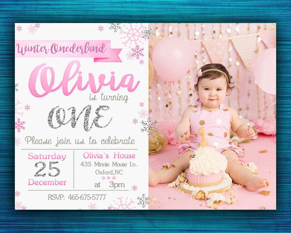 Winter Onederland Invitation-Winter onederland Birthday Party ...