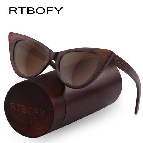 5fe869bea6d Rtbofy Wood Sunglasses Women Bamboo Frame Eyeglasses Polarized Lenses  Glasses Vintage Design Shades - PINkart.in
